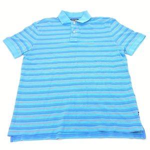 Nautica Horizontal Striped Golf Polo
